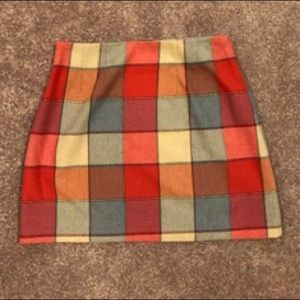 Plaid miniskirt from the limited size 6